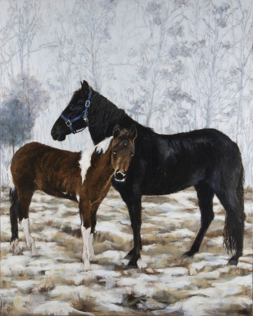 Beasley's Horses - 60 x 48 - acrylic on canvas