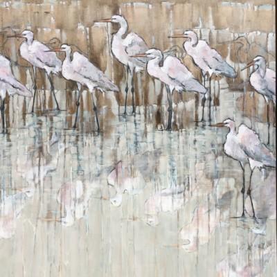 line of egret